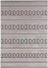 Vintage Handira Carpet Temara Grey Black 120 x
