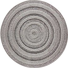 Vintage Handira Nador Anthracite Grey Circle 160cm