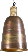 Vintage hanging lamp copper with gold - Burn 1