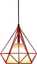 Vintage Hanging Light Retro Pendant Light Red