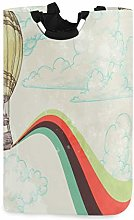 Vintage Hot Air Balloons Laundry Hamper Basket