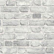 Vintage House Brick Pattern Wallpaper Faux Effect