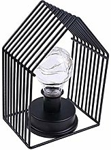 Vintage House Table Lamp Decorative Metal Cage