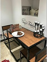 Vintage Industrial Dining Table Small Metal