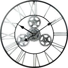 Vintage Industrial Gear Art Wall Clock Decor Roman