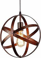 Vintage Industrial Spherical Pendant Light Metal