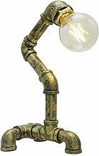Vintage Industrial Table Lamp Rustic Steel Water