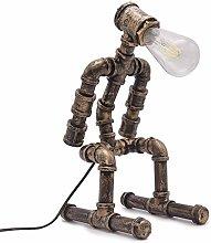 Vintage Industrial Water Pipe Table Lamp Steampunk