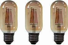 Vintage LED Filament Light Bulb 6W T45 Rectangular