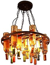 Vintage LOFT chandelier American country Glass