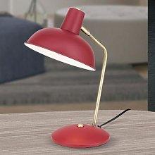 Vintage look - Fedra table lamp red