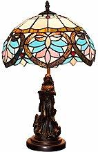 Vintage love-heart Tiffany desk lamp glass