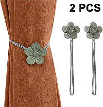 Vintage Magnetic Curtain Tieback, 1 Pair Resin