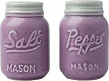 Vintage Mason Jar Salt & Pepper Shakers by Comfify