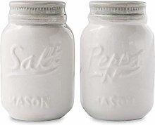 Vintage Mason Jar Salt & Pepper Shakers by Comfify