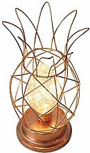 Vintage Metal Table Lamp Pineapple Cage Industrial