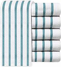   Vintage Multi-Stripe Jacquard Weave Tea Towel