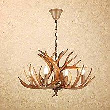 Vintage Pendant Lamp Pastoral Chandelier Resin