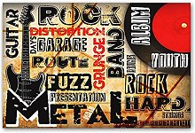 Vintage Poster Rock Music Retro Wall Art Print For