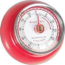 Vintage Red Metal Magnetic Kitchen Cooking Timer