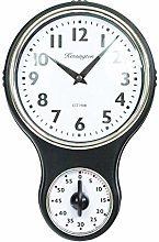 Vintage Retro Plastic Kitchen Wall Clock with