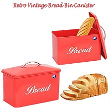 Vintage Retro Style Large Stainless Steel Bread