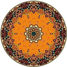 Vintage Round Rug Traditional Round Carpet with