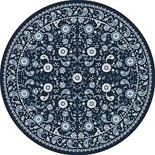 Vintage Round Rug Traditional Rug with Classic