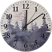 Vintage Rustic Wood Clock Silent Non Ticking