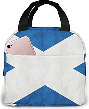 Vintage Scotland Flag Lunch Bag,Reusable Insulated