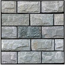 Vintage Self Adhesive Wallpaper Brick Removable