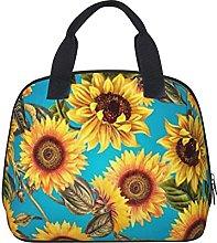 Vintage Shabby Chic Sunflowers On Turqoise