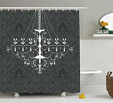 Vintage Shower Curtain Victorian Baroque Stylized