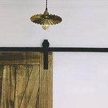 Vintage Sliding Door Barn Pulley Door Black