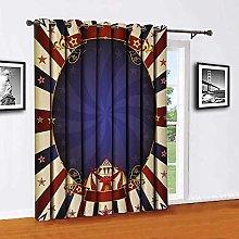 Vintage Sliding door shades,patio curtains,Circus