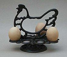 Vintage Style CAST Iron Chicken Hen Egg Rack