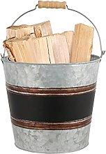 Vintage Style Fireside Log Coal Kindling Storage