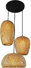 Vintage Style Lanter Pendant Lamp,Rattan Hanging