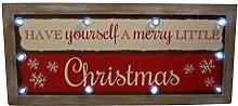 Vintage Style Light Up Led Christmas Sign
