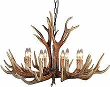 Vintage Style Resin Antler Chandelier 6 Lights 8