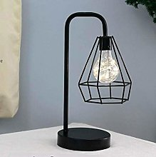 Vintage Table Lamp Diamond Iron LED Night Light