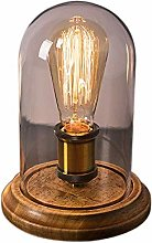 Vintage Table Lamp Glass Shade Table Lamp