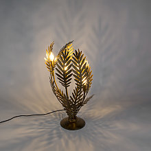 Vintage Table Lamp Large Gold - Botanica