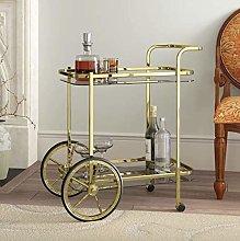 Vintage Tea Trolley Side End Furniture Metal Gold