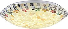 Vintage Tiffany Style Stained Glass Flush Mount