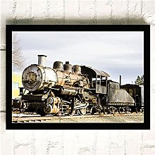 Vintage Train Black and White Color Series Sailing