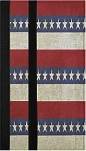 Vintage USA Stripes and Stars Refrigerator Door