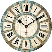 Vintage Wall Clock 3D Frameless Wall Decal Wall