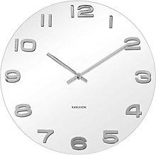 Vintage Wall Clock Karlsson Colour: White