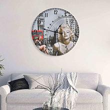 Vintage Wall Clock Marilyn Monroe 60 cm